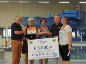 Overhandiging cheque 2015